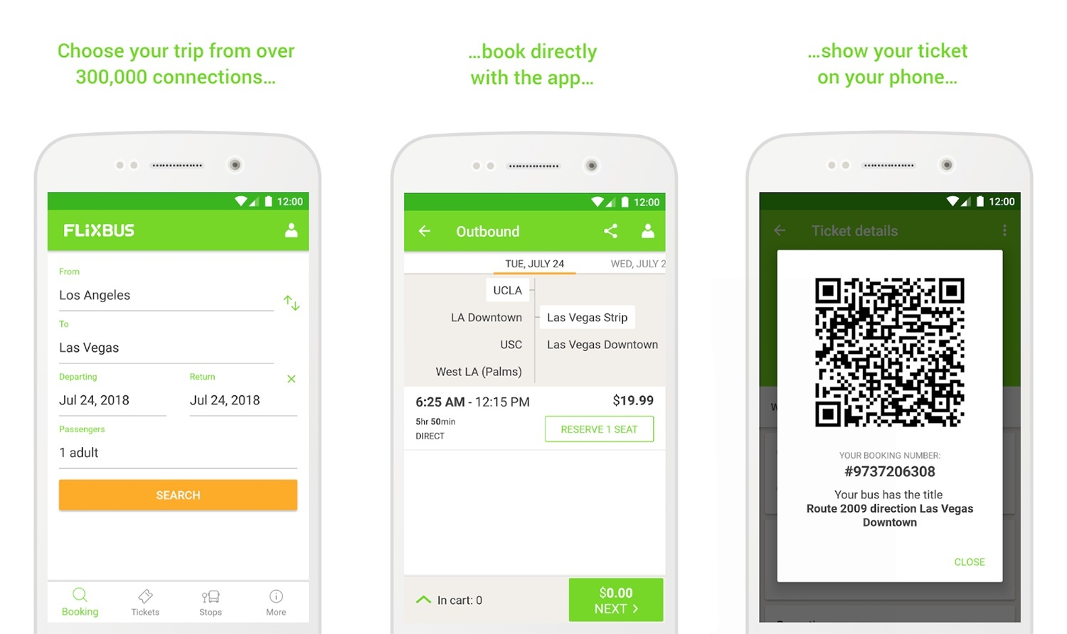 Flixbus mobile ticket