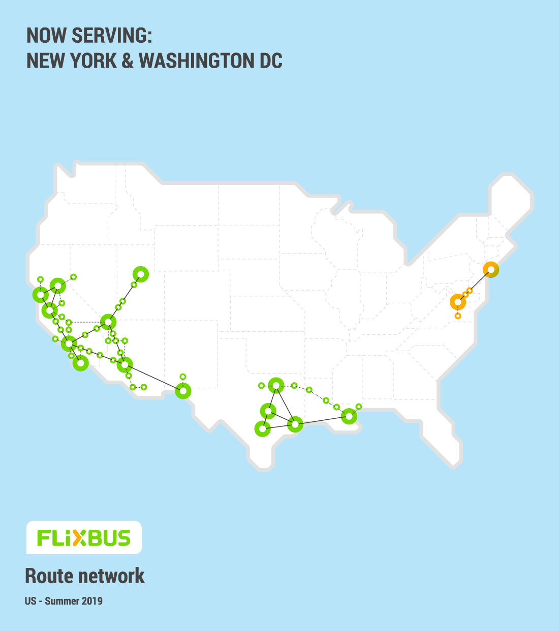 flixbus usa popular destinations